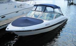 In the water & ready to go. Extended swim platform. Complete with EZ Loader trailer. Hull and Deck Depth Sounder, Horn(s), Navigation Lights, Full Engine Instrumentation. Cabin and Interior  Navigation Depth Sounder, Horn(s), Navigation Lights, Full