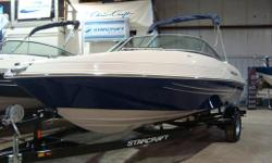 This one is a new boat  v6 power sport interior walk thru transom extended swim platform  custom trailer included   Freight, PDI and options extra