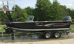 2007 Alumacraft Trophy 205 RARE TROPHY 205 FULLY EQUIPPED The Trophy is comfortable secure and roomy. It's the choice of fun loving families and dead serious fishing guides alike. Fish cruise play relax and do it all again tomorrow. Trophy's deep