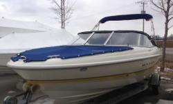 4.3L, Sharp Bowrider, V6 4.3 Mercruiser. Only 67hrs!! One owner. Full covers and Bimini top. Fiberglass floor. Free local delivery Trailers available.