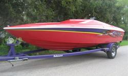 20' Outlaw, 260hp, 5L MPI Merc, Alpha 1 drive, 165 hours, S/S prop, thru-hull exhaust, trim tabs, depth sounder, dual batteries, extended swim platform, storage cover, includes matching trailer with brakes, S/S rims, asking only $22 900 or $79/WEEK OAC