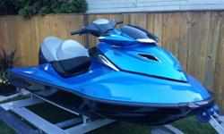 2007 SeaDoo GTX 215 HP supercharged. Second owner, stored indoors or on a lift. 70 MPH top speed. 82 hours. Perfect condition. Fresh water use only. Triton aluminum double trailer also available $1750.