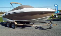 Stingray 215 LR, powered with Mercruiser 5.0 MPI 260 h.p., Pheonix custom trailer. Was $55,177.00 Now $45,646.00. See included options below. The 215LR offers many family friendly features not commonly found on a boat of its size. A fully functioning head