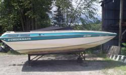 Closed deck sport boat, padding under deck, swivel captain chars, cockpit cover, bimini top stainless steel propeller, good condition