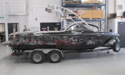 CALGARY Sharp Looking Boat! Payments Starting at $324/month5.7L 325 HP V-Drive Engine, Seating for 14, Tower with 4 Speakers and 3 Lights, Tower Mirror, Perfect Pass Cruise Control, Swivel Board Racks, Supra Dash Display, Amp/Sub, Stereo with Remote, Bow