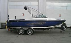 CALGARY Extremely Well Cared For! 340 HP 5.7L Indmar V-Drive Engine, Seating for 14, Tower, Tower Speakers, Tower Lights, Tower Mirror, Board Racks, Bimini Top, Stereo, Amp & Sub, Ski Pylon, Cruise Control, Wakeplate, Docking Lights, Bow Filler Cushion,