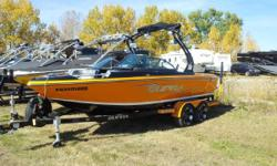 CALGARY An Extremely Economical 21' Package! Perfect for Skiing and Wakeboarding! 325 HP 5.7L Indmar V-Drive Engine, Seating for 14, Tower, Tower Speakers, Board Racks, Bimini Top, Stereo with iPod Integration, Ski Pylon, Cruise Control, Walk-Thru