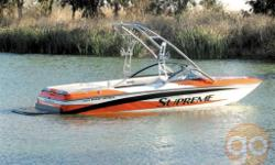 The V220 sports an aggressive multi sport V-hull design that produces sought after wakes for all watersports enthusiasts alike. Waterski magazine boasts ''a pleasure to drive'' and ''impressive all around numbers in acceleration and top speed with