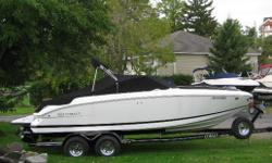 2008 COBALT 222 BOW RIDER  BROKERAGE SALE  With low hours this package shows very well - Powertrain warranty through August 2014  Watch the video on uTube  http://www.youtube.com/watch?v=SdMIG2NalVs  One owner, bought new August 2009, fresh water only,