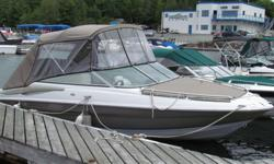 "2006 Crownline 210LS (21.5 ft), Bowrider, 350 MPI engine, Low hours, Taupe Colour, Good Condition, New Bimini/Enclosed top in 2013, Tandem Trailer being sold ""As Is, Where Is"""