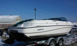 Just In!!! Super clean boat. A must see.Convertable enclosure, Bow and cockpit covers, sterio,head, newer 2004 Trailer