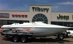 2006 Baja 23 Outlaw. Local one owner fresh water only, 8.1L/496 CI Mercruiser engine creating 375 HP with under 195hours. 70+ MPH boat on GPS speedo Mercruiser Bravo I outdrive, Lenco trim tabs, GPS (Put in Bay and Jobbie Nooner preprogrammed ),