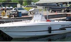 2000 PRO-LINE 23' SPORT  NEW PRICE $39,900.00  INCLUDES CUSTOM TRAILER  SPORTY AND FAST, LOADED WITH ELECTRONICS   This clean 23 Sport centre console combines a sporty look and attitude with function. Mercury 250HP Verado installed in