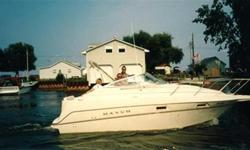Well maintained cruiser with two tops,head,microwave,forward and mid berth,plus more. Nice economical boat to run and can trailer. Can be viewed at Turkey Point at MacDonald Marina.