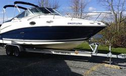 24.0' SEA RAY SUNDANCER 240 2008, 10+ pass, 350, gas, wheel, 8 ft, 110, 300hp, Like New in mint condition 2008 Sea Ray 240 Sundancer with only 110HR (Fresh water use only) 2013 Continental A2460B-5800 Aluminum Trailer 350 MAG/MPI 300HP B/III Duo-Prop