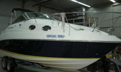 Specifications Length Overall (LOA): 288 Features Consignment. camper top, cockpit cover, ladder, swim platform, extended platform, ski eye wiper, built-in fuel tank, transom shower, snap-in carpet, sink/cooler/ice box, shower, stove/fridge/microwave,