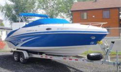 boat show's like brand new ! has aluminum trailer,capmer back,cockpit cover,etc.super clean and ready to go .reduced ready for the vacations .....