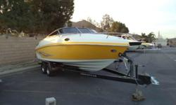 24.0' RINKER BOAT CO CAPTIVA 246 CUDDY CABIN 2006, Mercury MERCRUISER 350 MAG MPI 5.7L 300HP V8, Yellow ext, VIN: RNK81077A606 Key Features � Stainless steel hardware throughout � Boat top (on order) � Integrated swim platform with stainless steel