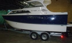 Purchased new from TC marine last year.stored indoors since purchased. Base price : $76,972 (USD) Boat type : Compact Cruiser Category : Ideal for Trailering, Fishing, Overnight Trips, Water Sports Assembly : Lake Forest, Illinois Warranty : 5 years