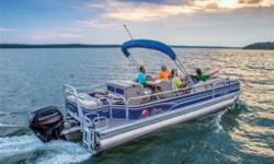 2015 Sun Tracker FISHIN' BARGE�® 24 DLXOur biggest dual-pontoon, the 24 DLX boasts an expansive deck footprint of over 200 square feet, and it's outfitted with an impressive collection of fishing and comfort advantages.Throughout the huge playpen, you and