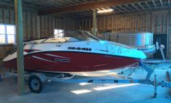2009 SeaDoo Challenger 180 SE model - only 89 hours! 255 HP edition Red Graphics Super Clean, Garage Stored, zero issues, serviced yearly Galvanized trailer with swing tongue for shorter garages Extras: - Seadoo Full Playpen Cover, never been taken out of