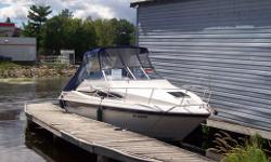 1996 26' Monterey - 5.7L Mercruiser I/O - drive completely professionally rebuilt 2010.  Full Galley w/ac/dc fridge alcohol electric stove, microwave, private head w/shower, v berth dinette converts to bed, aft cabin w/double bed, full camper top, mooring