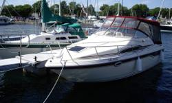 26'cruiser with 7.4L Mercruiser and Bravo outdrive. Forward v-berth plus aft cabin. Comfortably sleeps 4. Electric head with shower. Additional hand held shower at back of cockpit. Galley with stove,fridge and sink.Fresh water tank and hot water heater.