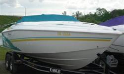 Very clean low hour boat.  Meticulously maintained on a custom eagle tandem axle trailer, brand new GPS Chartplotter, great running fast boat. Make an offer!!