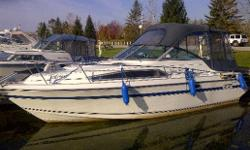 Ver, very clean 26 cruiser by Cadorette! This boat has had everything done including a freshly rebuilt engine 35 hours ago (last fall), new canvas last year, trim tabs,new CD player, VHF radio, transom shower.....all the right stuff! View today, you won't
