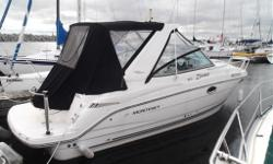 ***PLEASE CONTACT LISTING AGENT FOR AN APPOINTMENT AND EXACT LOCATION*** Monterey's 260 SCR Sport Cruiser has a little of everything. Powered by a 280 hp 5.7 Volvo Duo Prop with only 118 hours. To start the extended swim platform has a barbeque, boarding