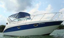 2006 MAXUM 2700 SE : Looking to upgrade? Here's one for you! This immaculate beauty is a 2006 Maxum 2700 SE. She's HUGE for her size at over 29 feet fully rigged and boasts an impressive almost 10 foot beam. What that means is an impressive ride in rough
