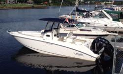 Twin Mercury Verado 4 Stroke 225 Go engines. Only 360 hours. Vacu Flush Porta Potty with Macerator. Northstar 6000i GPS/Plotter and sounder. Ray marine VHF. Marine stereo with CD. Fish Live wells with pump outs. Plenty of dry storage. Bottom is white and
