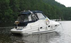 This is a great entry level or trade-up cruiser. The 270 is 27? LOA with an 8?6? beam. It is one of the largest trailerable cruisers available. It?s powered by an efficient Mercruiser 5.7L with a Bravo 3 drive, approx. 500hrs. We were cruising with