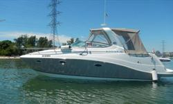 Looking for a lot of boat for the money, then look no further. The 2008 280 Rinker Express Cruiser is a large single engine vessel. Propelled by a powerful yet efficient 8.1L Mercruiser motor mated to a Bravo 3 duo prop drive. Cockpit seating that can