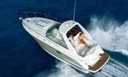 *Boat may not be exactly as shown* Distinctive lines and superior performance define the 280SCR. With a 29� length and a wide 9�2 beam, the 280SCR is roomy, comfortable and stable. The stylish helm features a dual helm seat with flip up thigh rise bolster