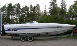 1991 Checkmate, 28FT, 2-1996 Pro-Max 225HP Mercs, Trailer $36,000
