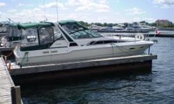 30' Sea Ray Weekender - Twin Mercruiser 5.7 l (350 cu in) 260 hp inboards, hours 900+ 200 gal gas tanks. Fresh water tank 40 gal. Inverter, central vac. GPS, VHF radio (new), depth finder, radio, CD player, flat screen TV, microwave, Stainless Steel BBQ,