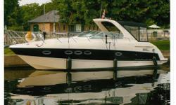 Black Hull with Full Camper Black Canvas in Good Condition. Generator A/C Heating Seacore System North Star 120E Windlass Electric Grill Vessel View TV 2 Refrigerators Teak Table 2 x 5.0L  MPI BR 3 Mercruiser Axius Inboards