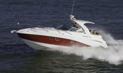 "Specifications Length Overall (LOA): 399 Beam: 10' 6"" Draft: 22/36 Weight: 12100 Pass: YC Max HP: T-300 Max # Eng: 2 Fuel Capacity: 150 Model Name Length: 31' AFT CABIN Privacy curtain/door Reading lights Venting port light w/screen CABIN Air / Heat"