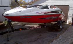 2007 seadoo speedster twin engine. In mint condition with new moring cover, stereo with subs amp and sea doo trailer.