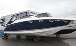 Navy Hull with Navy Canvas (Tonneau & Bimini) in Great Condition. Premium Sound System / XM Satellite Radio Swim Platform Transom Lighting Stereo Remote @ Transom Docking Lights - Stainless Steel Vacuflush Head Cabin Entertainment Package Air Conditioning