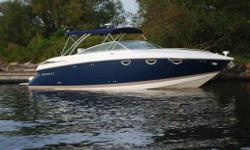 2006 COBALT 323  NEW BOAT SHOW PRICING! !  $154,900.00  BROKERAGE SALE      VERY LOW HOURS....60....ON THIS EXTRA CLEAN FRESH WATER DAY BOAT.  The 323 does indeed cruise in exuberant celebration of unforgettable hours spent with those who matter most. A