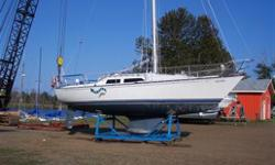 This boat is equipped for cruising and has proven itself on a round trip trip to the Bahamas. Comes complete down to the 1 oz silver coin under the mast! Vessel is in Thunder Bay, ON. The Hull: Never had a blister. Bottom paint in ?08. Keel modified to