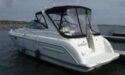 Just traded in on a new Sea Ray, this boat is a great starter boat for a family or couple. Well laid out with a great cockpit design and huge interior, this boat offers; Air/Heat, a backrest/sun pad, full camper top, cockpit shower, shore power, 120V