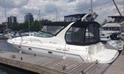 Well maintained cruiser, currently in the Port Credit area. New canvas, deck carpet and leather seat upgrades end of last season. 600 hours on both engines.