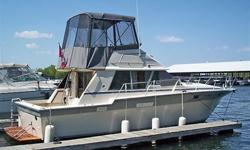 Beautifully Big Convertible Flybridge Cruiser in very good condition. Previous owners have taken great pride in maintaining this boat's condition, both mechanically and cosmetically. Very large salon, Well-equipped galley down, large master stateroom