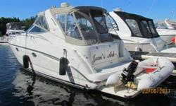 ONLY ONE OWNER, SOLD BY OUR MARINE NEW, ALL SERVICE RECORDS AND MANUALS PROVIDED TO PURCHASER. YOU WILL NOT FIND A BETTER KEPT BOAT WITH AS GREAT A HISTORY AS THIS BOAT. CHART PLOTTER, RADAR INCLUDED IN PURCHASE, GENERATOR ONLY HAS 425 HOURS, EQUIPPED
