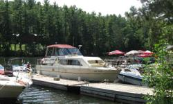 A great example of a very popular classic one of a kind. Notable features include: large walk around decks, Molded bow seating, Two staterooms, two heads, Reverse Heat/Air x 2, 6.5kW gennie. This vessel is very spacious and perfect for entertaining! The