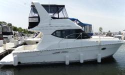 The Silverton 36 model and is the builder?s most popular boat. It has such a good mix of features that it?s hard to resist for people looking for an affordable boat. She sleeps four comfortably, has a split head, a nice wide beam that allows for a roomy