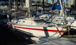For sale 1/2 ownership -- asking $ 35,000. Performance cruiser, fully equipped. Secure long term moorage in False Creek. 2016 insurance survey.